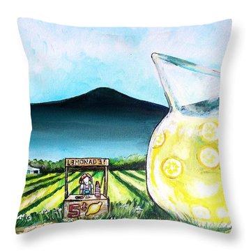 When Life Gives You Lemons Throw Pillow by Shana Rowe Jackson