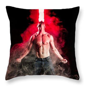 X-men Cyclops  Throw Pillow by Jt PhotoDesign