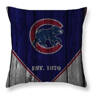 Chicago Cubs Throw Pillow by Joe Hamilton