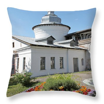 Flowerbed Throw Pillow by Evgeny Pisarev