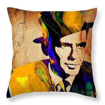 Frank Sinatra Throw Pillow by Marvin Blaine