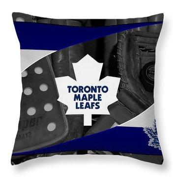 Toronto Maple Leafs Throw Pillow by Joe Hamilton