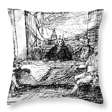 Treaty Of Paris, 1783 Throw Pillow by Granger