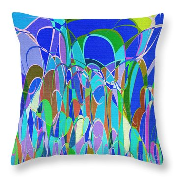 1014 Abstract Thought Throw Pillow by Chowdary V Arikatla
