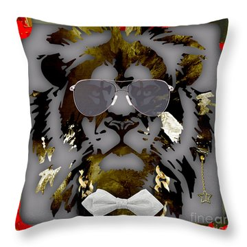 Lion Collection Throw Pillow by Marvin Blaine