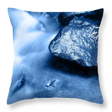 Stream Throw Pillow by Les Cunliffe