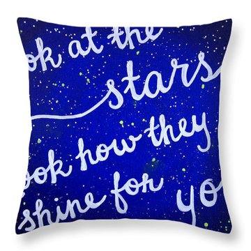11x14 Look At The Stars Throw Pillow by Michelle Eshleman
