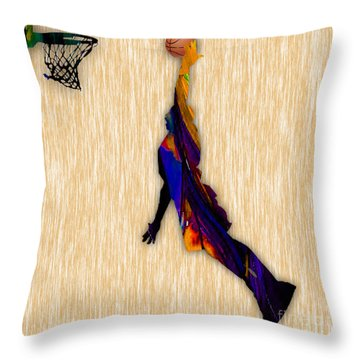 Basketball Throw Pillow by Marvin Blaine