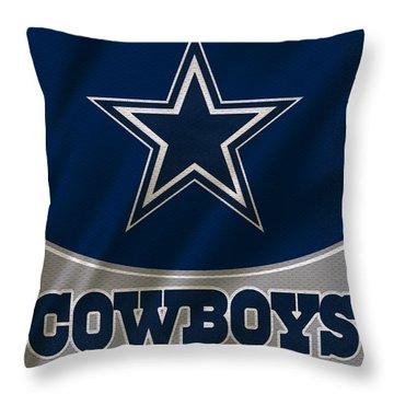 Dallas Cowboys Uniform Throw Pillow by Joe Hamilton