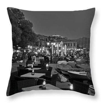 Molyvos Village Throw Pillow by George Atsametakis