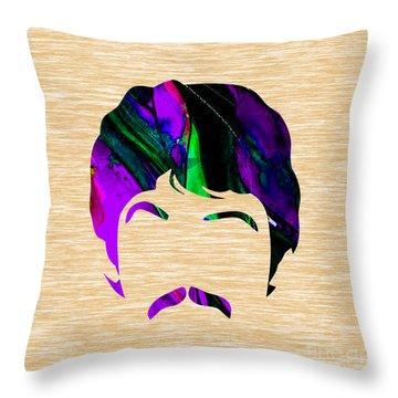 Paul Mccartney Collection Throw Pillow by Marvin Blaine
