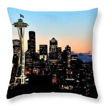12th Man Sunrise Throw Pillow by Benjamin Yeager