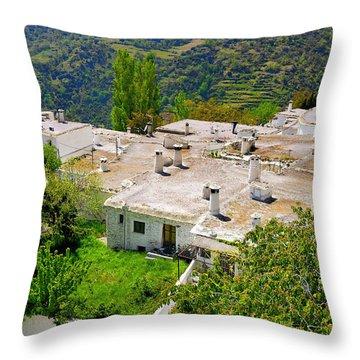 Alpujarras In Granada Throw Pillow by Guido Montanes Castillo
