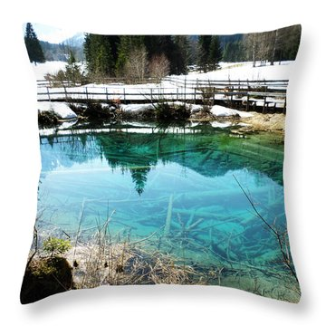 Bodental Homeland Where Nature Is Awake Throw Pillow by Sir Josef Social Critic - ART