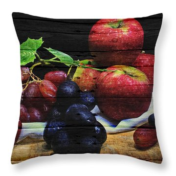 Fruit Throw Pillow by Joe Hamilton