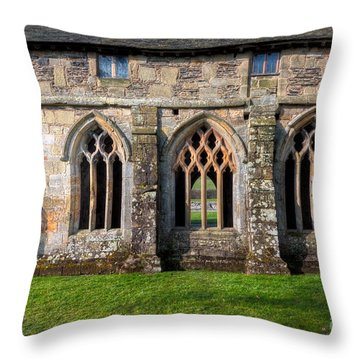 13th Century Abbey Throw Pillow by Adrian Evans