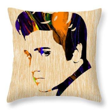 Elvis Throw Pillow by Marvin Blaine