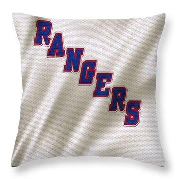New York Rangers Throw Pillow by Joe Hamilton