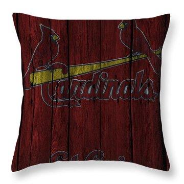 St Louis Cardinals Throw Pillow by Joe Hamilton