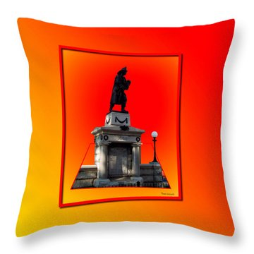 1898 Firemen Memorial Throw Pillow by Thomas Woolworth