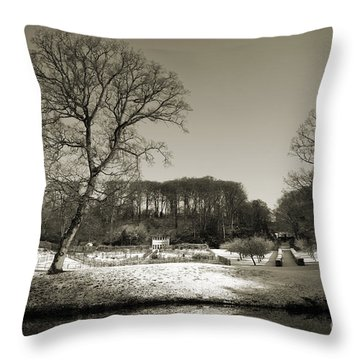 18th Century Winter Throw Pillow by Anne Gilbert