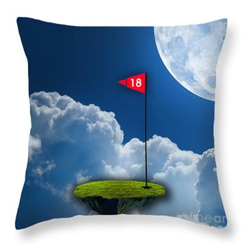 18th Hole Throw Pillow by Marvin Blaine