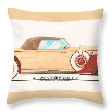 1932 Packard All Weather Roadster By Dietrich Concept Throw Pillow by Jack Pumphrey