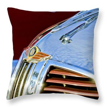 1938 Dodge Ram Hood Ornament 3 Throw Pillow by Jill Reger
