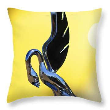 1939 Packard Hood Ornament Throw Pillow by Jill Reger