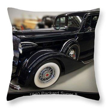 1940 Packard Super 8 Throw Pillow by Chris Flees