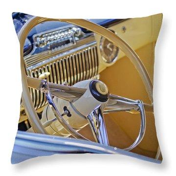 1947 Cadillac 62 Steering Wheel Throw Pillow by Jill Reger