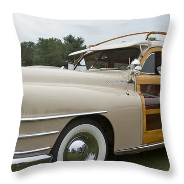 1947 Chrysler Throw Pillow by Jack R Perry