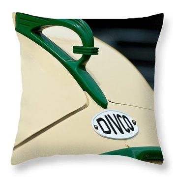 1950 Divco Milk Truck Hood Ornament Throw Pillow by Jill Reger