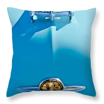1950 Oldsmobile Hood Ornament Throw Pillow by Jill Reger