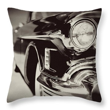 1950s Cadillac No. 1 Throw Pillow by Lisa Russo