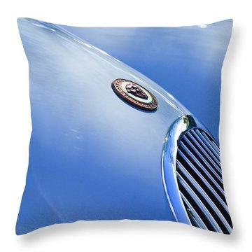 1951 Jaguar Grille Emblem Throw Pillow by Jill Reger