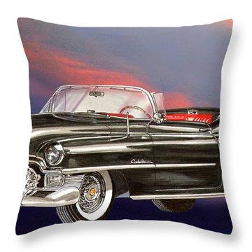 1953  Cadillac El Dorardo Convertible Throw Pillow by Jack Pumphrey