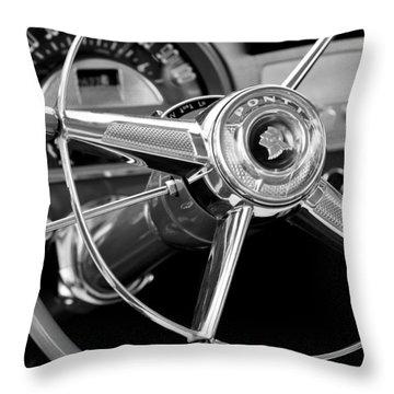 1953 Pontiac Steering Wheel 2 Throw Pillow by Jill Reger