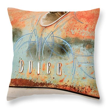 1954 Buick Special Hood Ornament Throw Pillow by Jill Reger