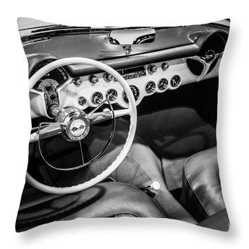 1954 Chevrolet Corvette Interior Throw Pillow by Paul Velgos