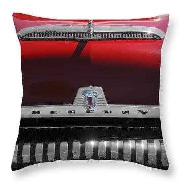 1954 Mercury Monterey Hood Ornament Throw Pillow by Jill Reger