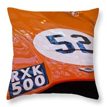 1955 Aston Martin Db3s Sports Racing Car Hood 2 Throw Pillow by Jill Reger