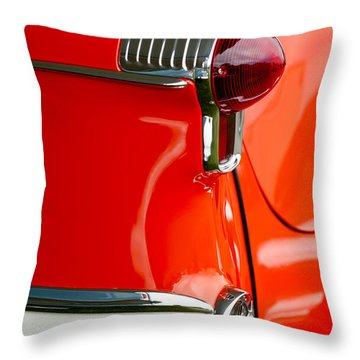 1955 Oldsmobile Taillight Throw Pillow by Jill Reger