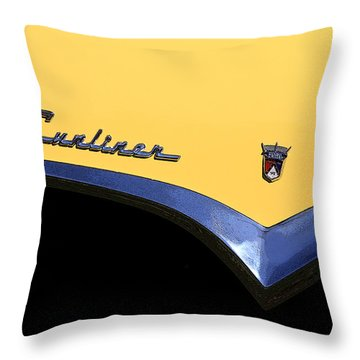 1955 Sunliner Throw Pillow by Joe Kozlowski