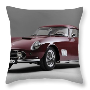 1956 Ferrari Gt 250 Tour De France Throw Pillow by Gianfranco Weiss