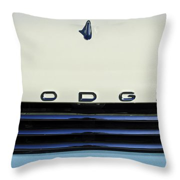 1958 Dodge Sweptside Truck Grille Throw Pillow by Jill Reger