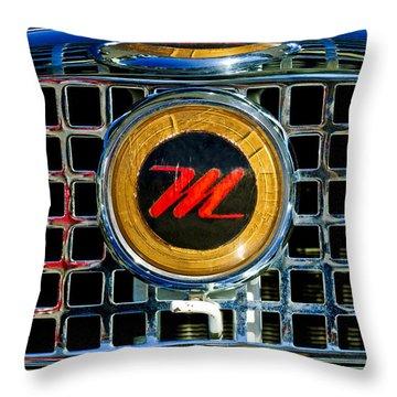 1958 Nash Metropolitan Hood Ornament 3 Throw Pillow by Jill Reger
