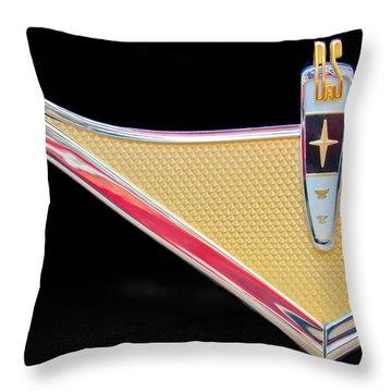 1959 Desoto Adventurer Emblem Throw Pillow by Jill Reger