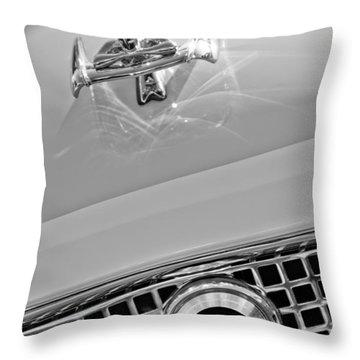 1960 Nash Metropolitan Hood Ornament Throw Pillow by Jill Reger