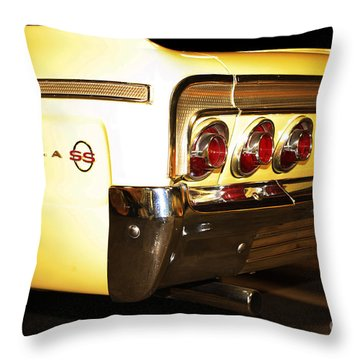 1962 Chevrolet Impala Ss Throw Pillow by Cheryl Young